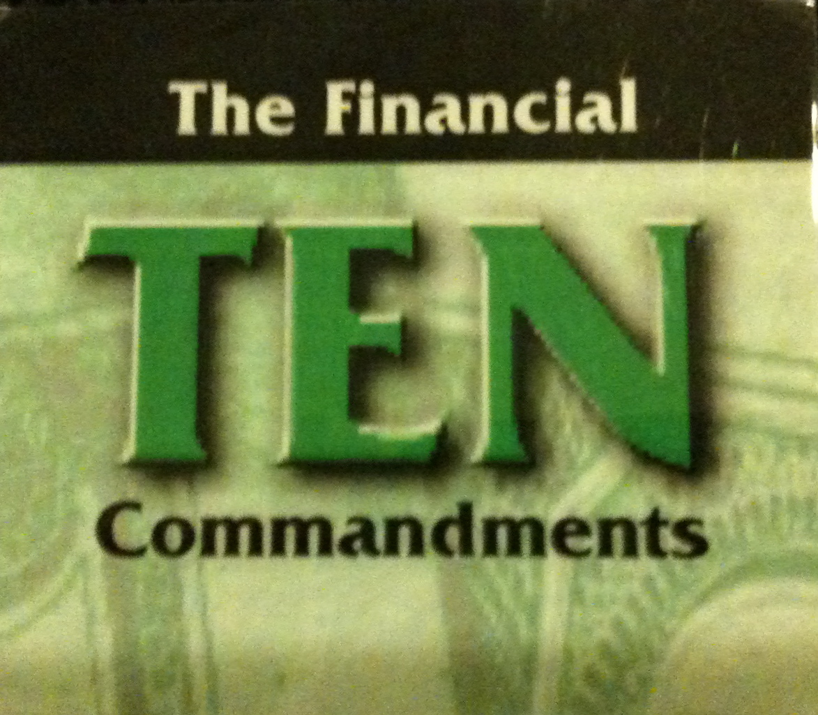 The Financial 10 Commandments
