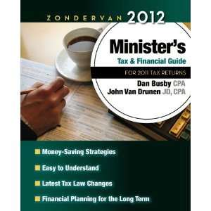 Zondervan Ministers Tax Guide 2012