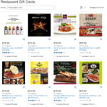 Save 20% on Restaurant Gift Cards at Costco and Sam's Club