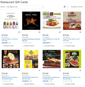 Save money on restaurant gift cards at Costco or Sam's