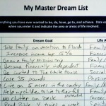 Master Dream List to keep track of financial goals